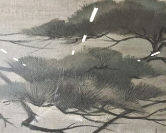 Signed Oversized Asian Style Print of Painting