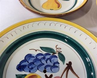 Hand Painted STANGI Fruit Plates, Set 18
