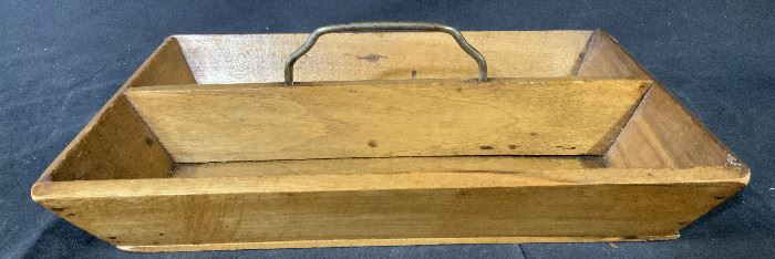 Wooden Wooden Basket with Handle