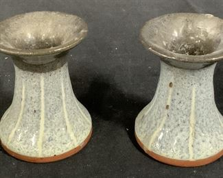Pair Ceramic Candlesticks
