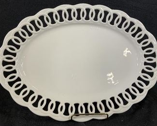 Decorative Platter, Openwork Trim