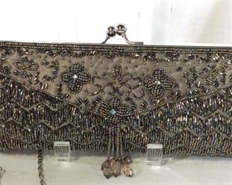 Luxury Beaded Clutch Chain Handbag