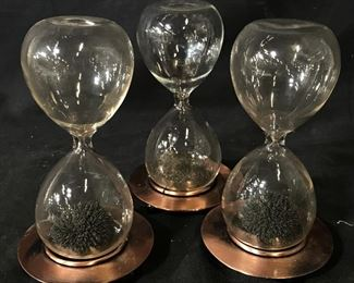 Set of Three Magnetic Hourglasses