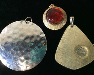 Lot 5 Estate Costume Jewelry, Pendants