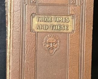 Vintage 'Those Time And These' by Irvin S. Cobb