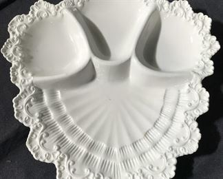 White Toned Hand Painted Porcelain Serving Platter