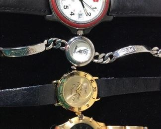 Lot 4 Designer Brand Watches, Signed