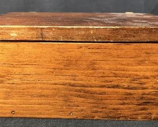 Handmade Vintage Wooden Keepsake Box