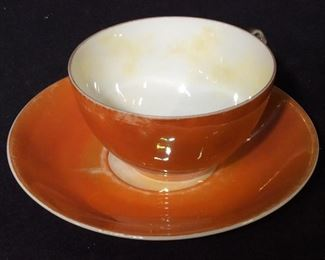 Bavarian RW Fine Porcelain Deco Orange Tableware