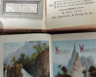 Lot 7 Antique Books, c 1700s + 1800s