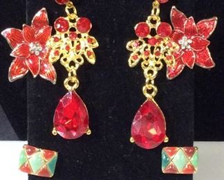Group Lot of Vintage Enamel Costume Earrings