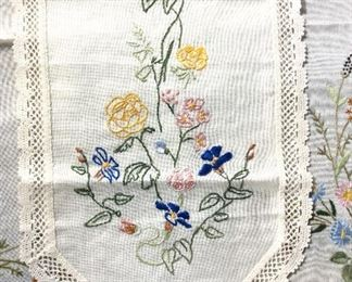 Collectible Hand Embroidered Table Linens, 2