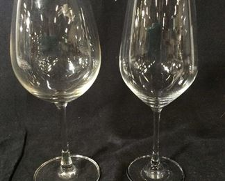 Lot 2 Stemware, Signed Crystal Schott Zwiesel