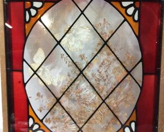 Decorative Stained Glass Hanging Window Panel