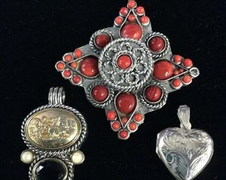 Lot 3 Pendants, Ladies Estate Jewlery