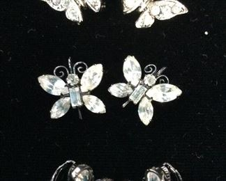 Lot 7 Rhinestone Retro Earrings