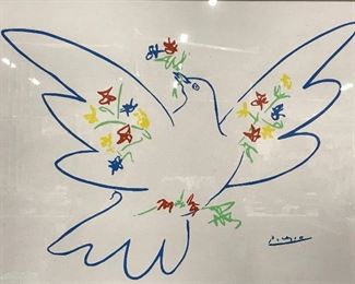 Fine Art Print of Picasso Artwork, Dove of Peace