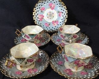 Set 9 Royal Halsey Fine Lusterware Tea Service