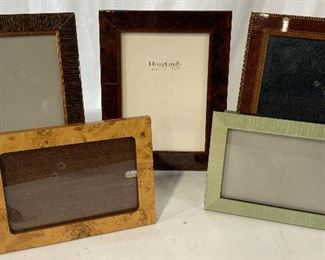 Set 5 Wooden Picture Frames