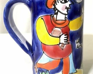 Hand Painted Ceramic Porcelain Pitcher