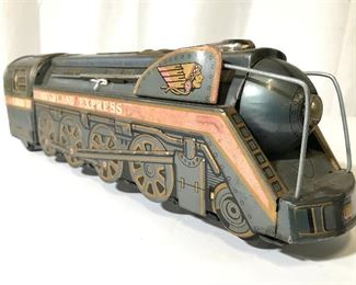 MODERN TOYS Vintage Metal Toy Train
