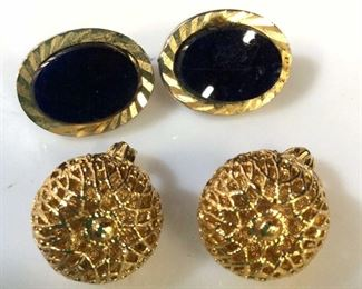 Lot 4 Earrings / Ear clips, ladies estate jewelry