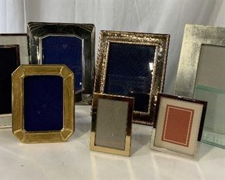 Set 8 Metal and Glass Picture frames