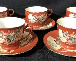 Set 10 Chinese Porcelain Coffee/Tea Service