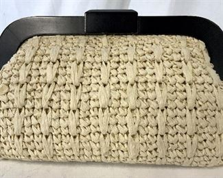 BANANA REPUBLIC straw clutch Purse