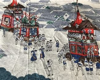 Japanese Hand Painted Textile art