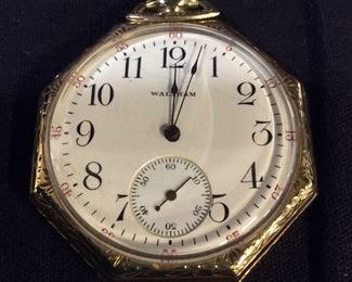 WALTHAM Pocket Watch/ Pendant w Bag