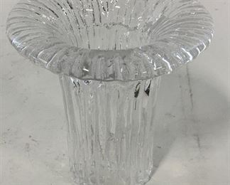 Textured Glass Candlestick