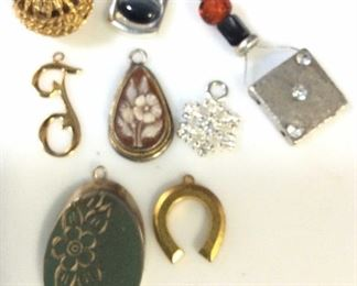 Lot 9 Artisanal Pendants, Ladies costume jewelry