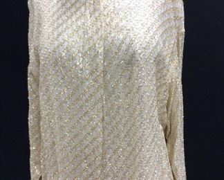 Vintage Metallic Threaded Helen Fabrikant Blouse