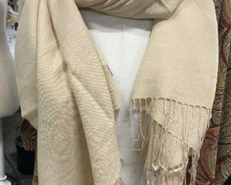 Champagne Colored Tasseled Pashmina