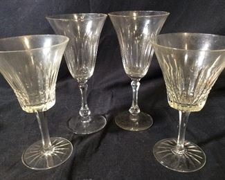 Set 14 Vintage Cut Crystal Stemware Glasses