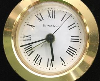TIFFANY & CO Gold Toned Brass Desk Clock