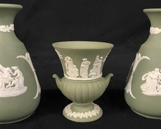 Lot 3 Wedgwood Porcelain Jasper Ware Vessels