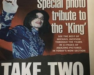 Lot 5 Tribute to Michael Jackson Newspapers