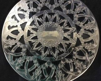 Decorative EALES 1779 Plated Glass Trivet, Italy