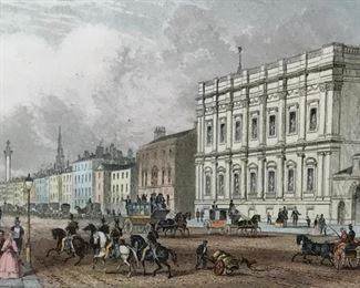 Engraving 'The Banqueting House Whitehall'