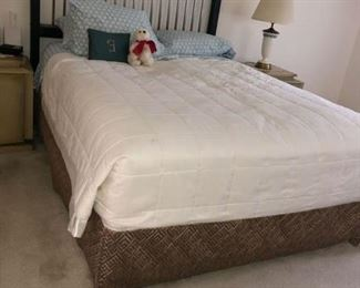 Queen bed with head board
