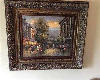 Large Framed Oil Painting