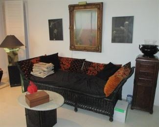 Black Wicker Sofa Tons of Accent Decor Furniture Separates