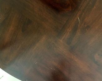 Detail minor scratches round two shelf table