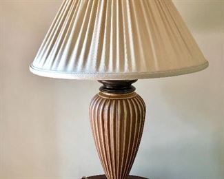 """$80 Ethan Allen lamp 34"""" High by 7 inches at base"""