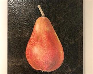 "$50 Pear wall art 24"" L by 18"" Wide"