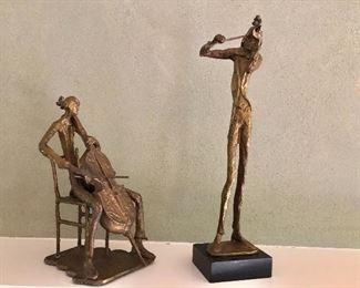 $120 Pair bronze statues
