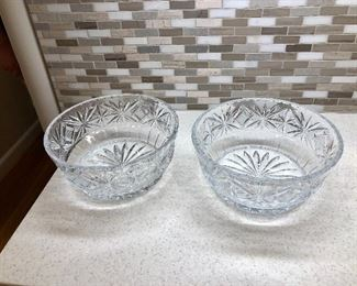 $30 EACH Crystal bowls