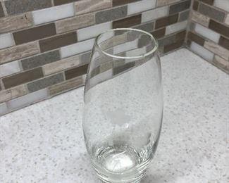 $12 Etched vase